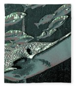 Spotted Eagle Ray Fleece Blanket