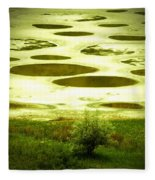 Spotted Lake Fleece Blanket