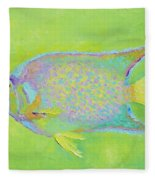 Spotted Tropical Fish Fleece Blanket