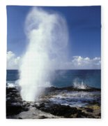 Spouting Horn Blow Hole Fleece Blanket