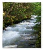 Sprague Creek Glacier National Park 2 Fleece Blanket