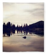 Sprague Lake At Sunset Fleece Blanket