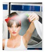 Spray Bottle Cleaner Fleece Blanket