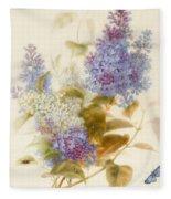 Spray Of Lilac Fleece Blanket