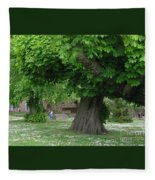 Spreading Chestnut Tree Fleece Blanket