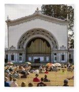 Spreckels Organ Pavilion Concert - San Diego Fleece Blanket