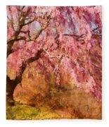 Spring - Sakura - A Beautiful Spring Day  Fleece Blanket