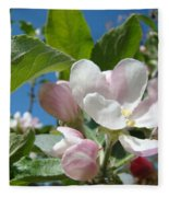 Spring Apple Blossoms Pink White Apple Trees Baslee Troutman Fleece Blanket