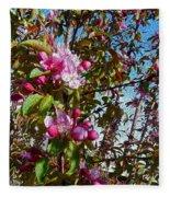 Spring Apple Blossoms- Spring Flowers Fleece Blanket
