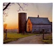 Spring At Birch Barn Fleece Blanket