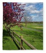 Spring At Rivercut Fleece Blanket