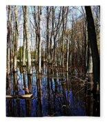 Spring At The Pond Fleece Blanket