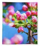Spring Awakening 2 - Paint Fleece Blanket