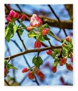 Spring Awakening 3 - Paint Fleece Blanket