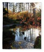 Spring Awakening In Japanese Garden Fleece Blanket