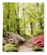 Spring Azaleas  Fleece Blanket