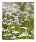 Spring Beauties Fleece Blanket