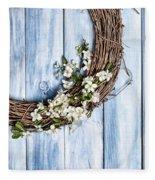 Spring Blossom Wreath Fleece Blanket