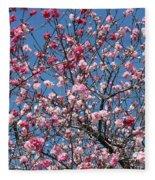 Spring Blossoms Against Blue Sky Fleece Blanket