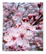 Spring Blossoms Art  Pink Tree Blossom Baslee Troutman Fleece Blanket