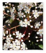 Spring Blossoms Macro Fleece Blanket