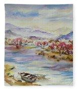Spring Breeze Fleece Blanket