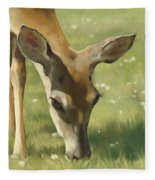 Spring Buck Fleece Blanket