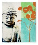 Spring Buddha Fleece Blanket