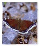 Spring Butterfly  Fleece Blanket