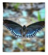 White Admiral Or Red-spotted Purple Fleece Blanket