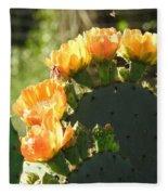 Spring Cactus 14 Fleece Blanket