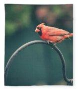 Spring Cardinal Fleece Blanket