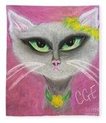 Spring Cat Fleece Blanket