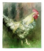 Spring Chicken Fleece Blanket