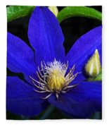 Spring Clematis Fleece Blanket