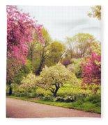 Spring Crescendo Fleece Blanket