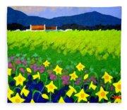 Spring Daffs Ireland Fleece Blanket