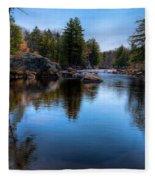 Spring Day On The River Fleece Blanket