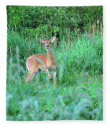 Spring Deer Fleece Blanket
