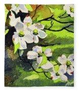 Spring Dogwoods Fleece Blanket