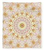 Spring Fantasy Floral Mandala Fleece Blanket