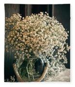Spring Flower Arrangement Fleece Blanket
