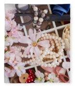 Spring Flowers Box Fleece Blanket