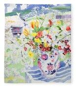Spring Flowers On The Island Fleece Blanket