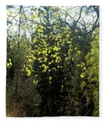 Spring Foliage Fleece Blanket