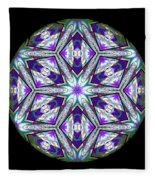 Spring Garden Mandala Fleece Blanket