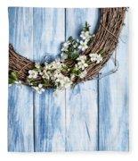 Spring Garland Fleece Blanket