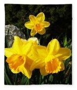 Spring Gold Fleece Blanket