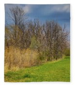Spring Grass Fleece Blanket
