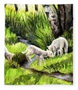 Spring Grasses Fleece Blanket
